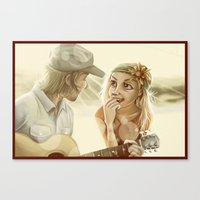 Guitar Serenade Canvas Print