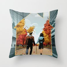 Seeking Suburbia Throw Pillow