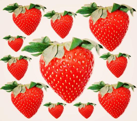strawberry explosion Art Print