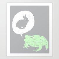 Frogs Say Art Print