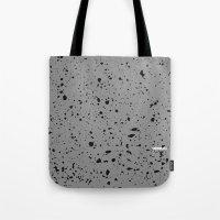 Retro Speckle Print - Grey Tote Bag
