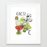 C is for Cacti Framed Art Print