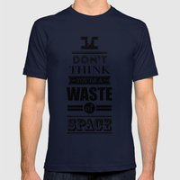 HP Quotes - Deathly Hall… Mens Fitted Tee Navy SMALL