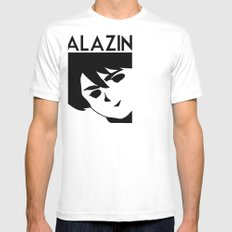 ALAZIN White Mens Fitted Tee SMALL