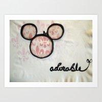 Adorable Mouse Fleur De … Art Print