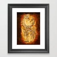 Henna Giraffe Framed Art Print