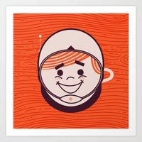 Retro Space Guy Art Print