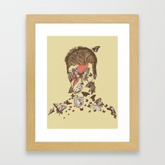 FACES OF GLAM ROCK Framed Art Print