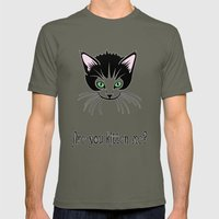 Are You Kitten Me? Mens Fitted Tee Lieutenant SMALL