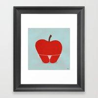 Apple Bottom Framed Art Print