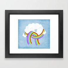 Mr clouds new scarf Framed Art Print