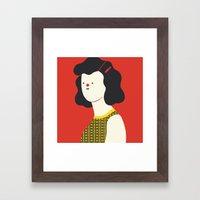 Red woman Framed Art Print