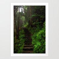 Stairway. Art Print