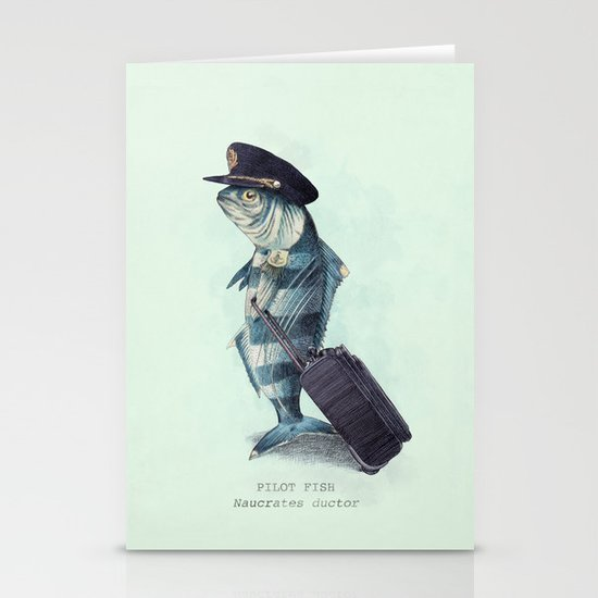 The Pilot (colour option) Stationery Card