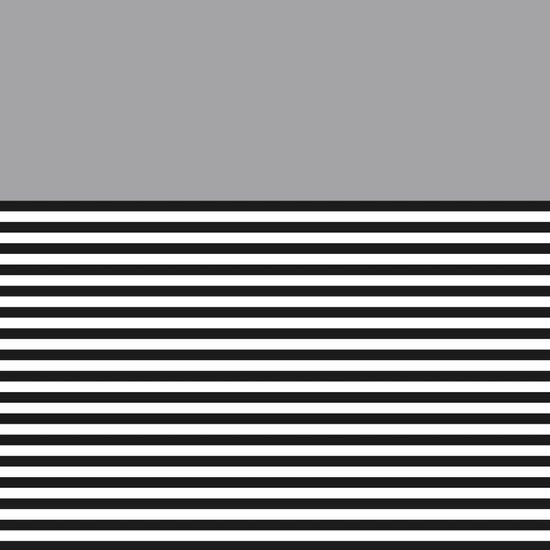 STRIPE COLORBLOCK {GRAY} Canvas Print