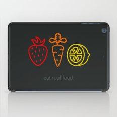 Eat Real Food. (dark) iPad Case