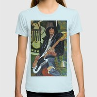 Johnny - ANALOG Zine Womens Fitted Tee Light Blue SMALL