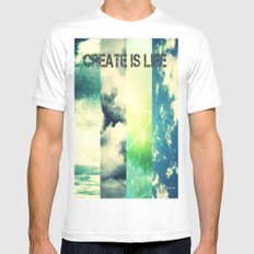 CREATE IS LIFE SMALL Mens Fitted Tee White