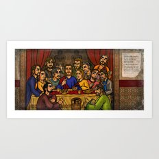 JC: The Last Supper Art Print