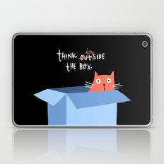 Think inside the box (black background) Laptop & iPad Skin