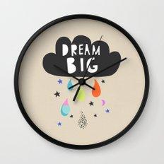 Dream Big, Nursery Art, Children's Art, Kid's Art Wall Clock