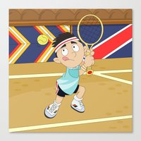 Olympic Sports: Tennis Canvas Print