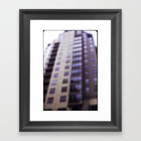 Losing Focus in Downtown Seattle Framed Art Print