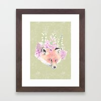 Fox & Foxgloves  Framed Art Print