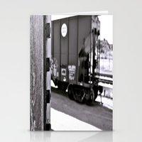 Urban train car Stationery Cards