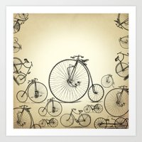 bicycle Art Prints featuring Bicycle by mark ashkenazi