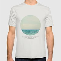 Salt Water Cure Mens Fitted Tee Silver SMALL