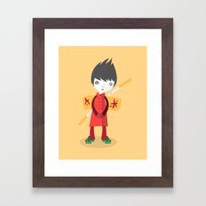 Little Ninja Framed Art Print