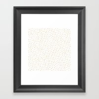 Gold Triangles Framed Art Print