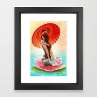 Lotus Girl Framed Art Print