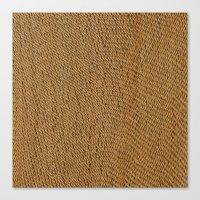 Weave wicker Canvas Print
