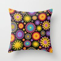 Bright And Colorful Flow… Throw Pillow