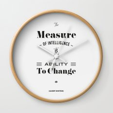 Einstein Quote, words of wisdom Wall Clock