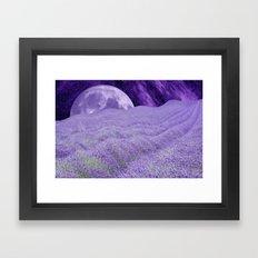 LAVENDER MOON Framed Art Print