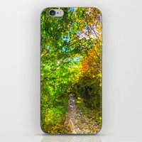 The Autumn Forest Path A… iPhone & iPod Skin