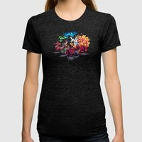 Team Llama – To the Rescue! Womens Fitted Tee Tri-Black SMALL