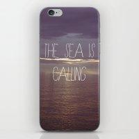 The Sea Is Calling iPhone & iPod Skin