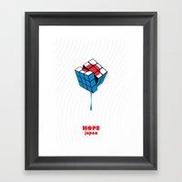 Hope For Japan Framed Art Print
