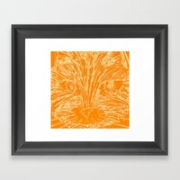 Orange Kitty Framed Art Print
