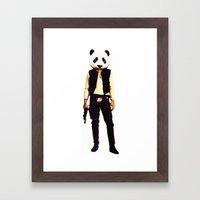 Pan Solo Framed Art Print