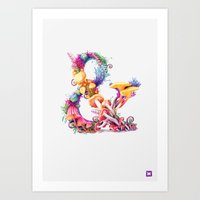 Mushrooms & Art Print