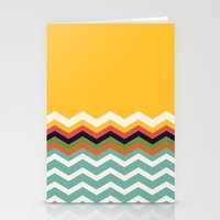 Retro Chevrons Stationery Cards