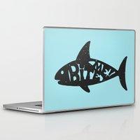shark Laptop & iPad Skins featuring SHARK! by Dylan Morang