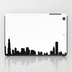 Chicago City Skyline in Black and White iPad Case