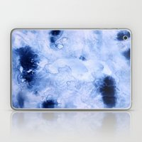 Marbled Water Blue Laptop & iPad Skin