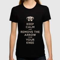 Keep Calm And Remove The… Womens Fitted Tee Black SMALL